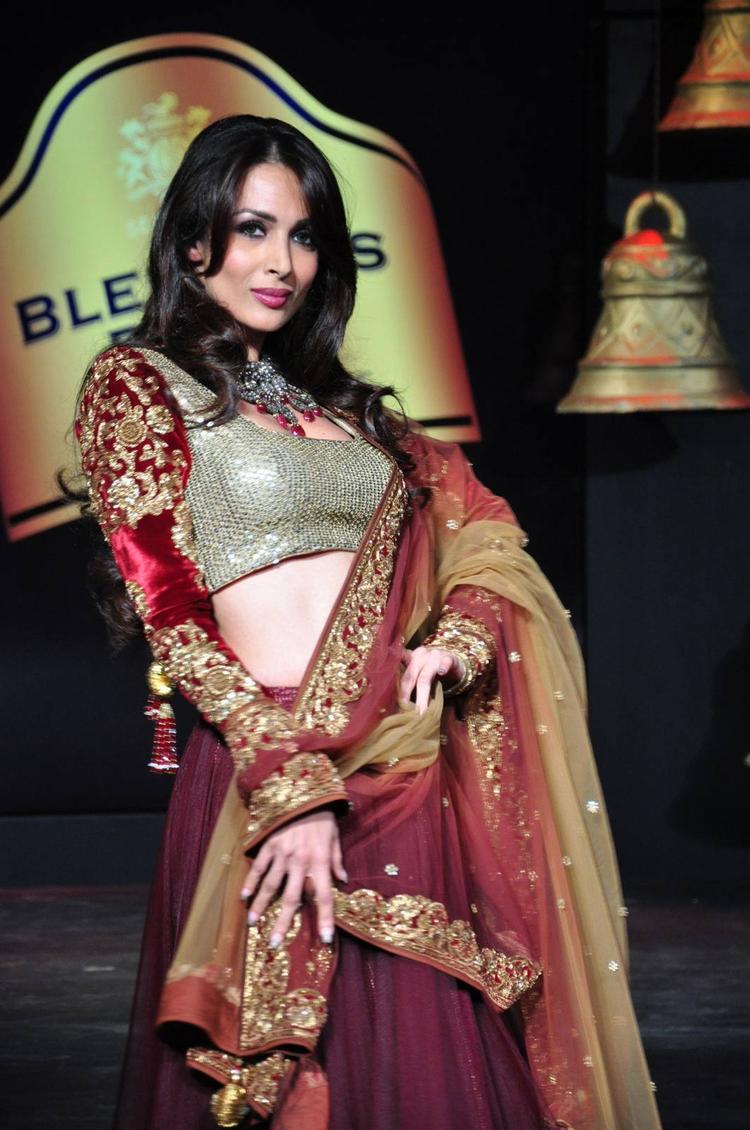 Malaika Arora Khan As Show Stopper At Blenders Pride Fashion Tour 2013