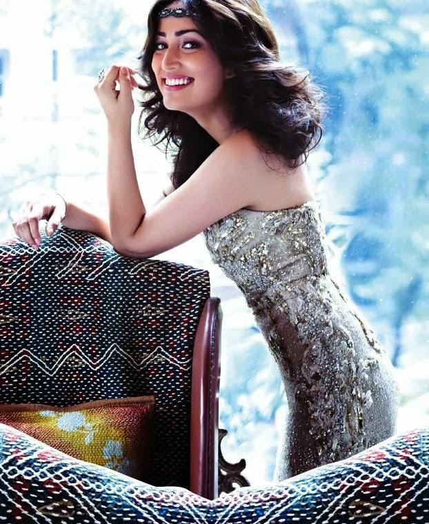 Yami Gautam Smiling Cool Look Shoot For Hello India November 2013 Edition
