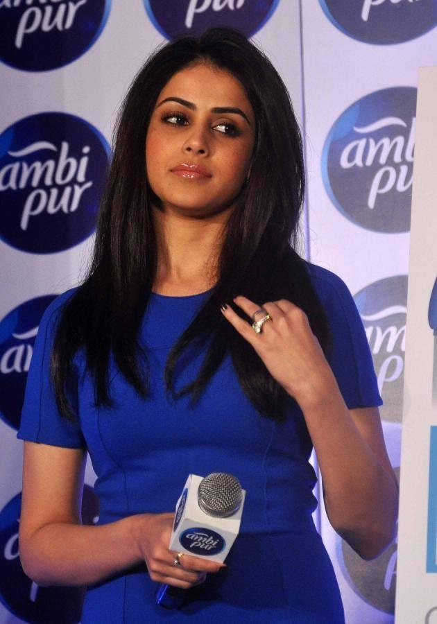 Genelia Spotted At The Launch Refresh Your Love Campaign By Ambi Pur