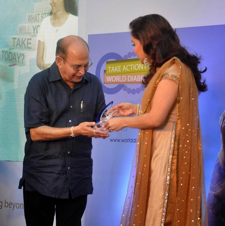 Madhuri During The Sanofi's Diabetes Awareness Event