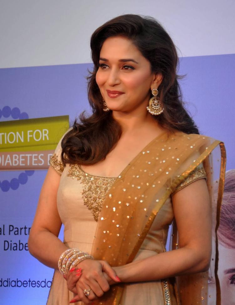 Madhuri Glamour Still At Sanofi's Diabetes Awareness Event
