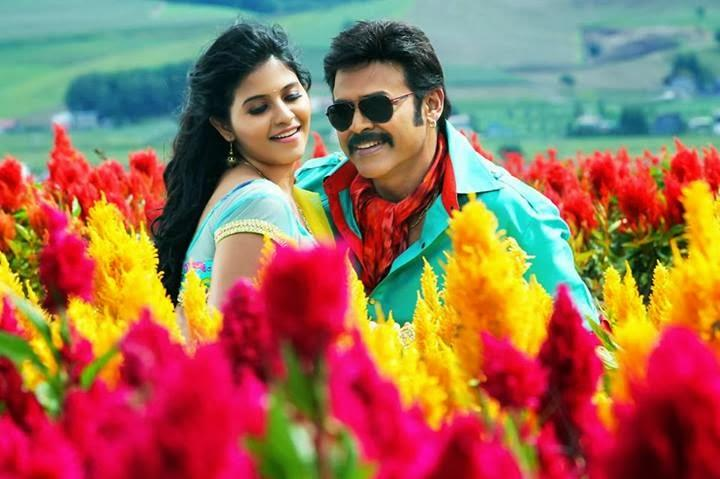 Venkatesh And Anjali Telugu Masala Movie Romantic Song Still