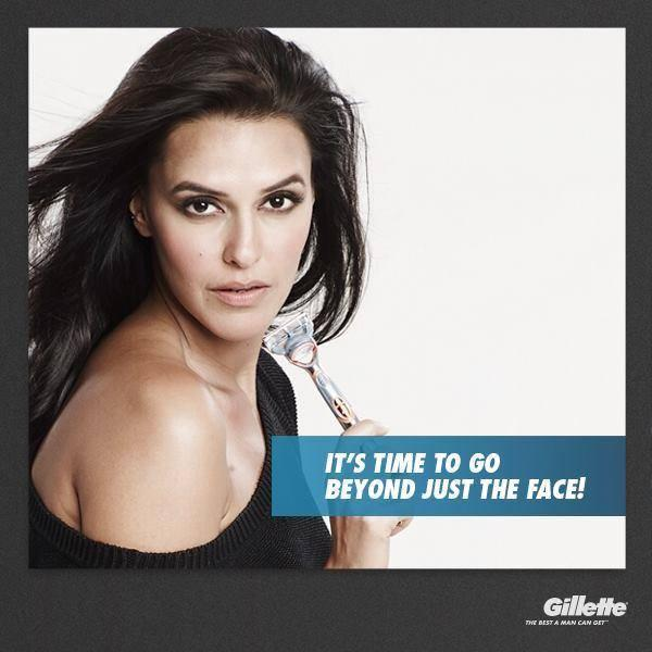 Stunning Sexy Neha Dhupia Print Ads For Gillette Event Photo Shoot