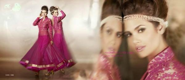 Esha Gupta Magenta Color Anarkali Amazing Photo Shoot