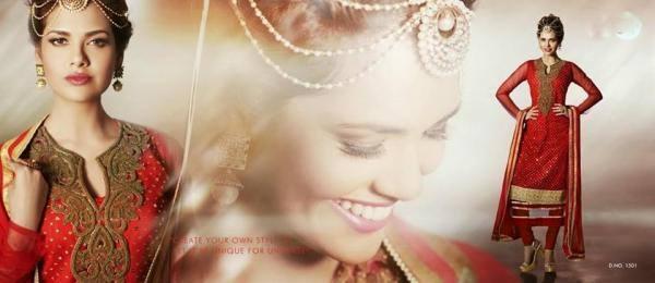 Esha Gupta Red Salwar Kameez Stylist Pic