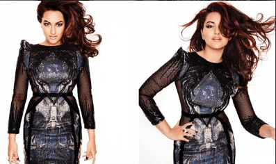 Sonakshi Sinha Glamour Photo Shoot For L'Officiel's December Issue 2013