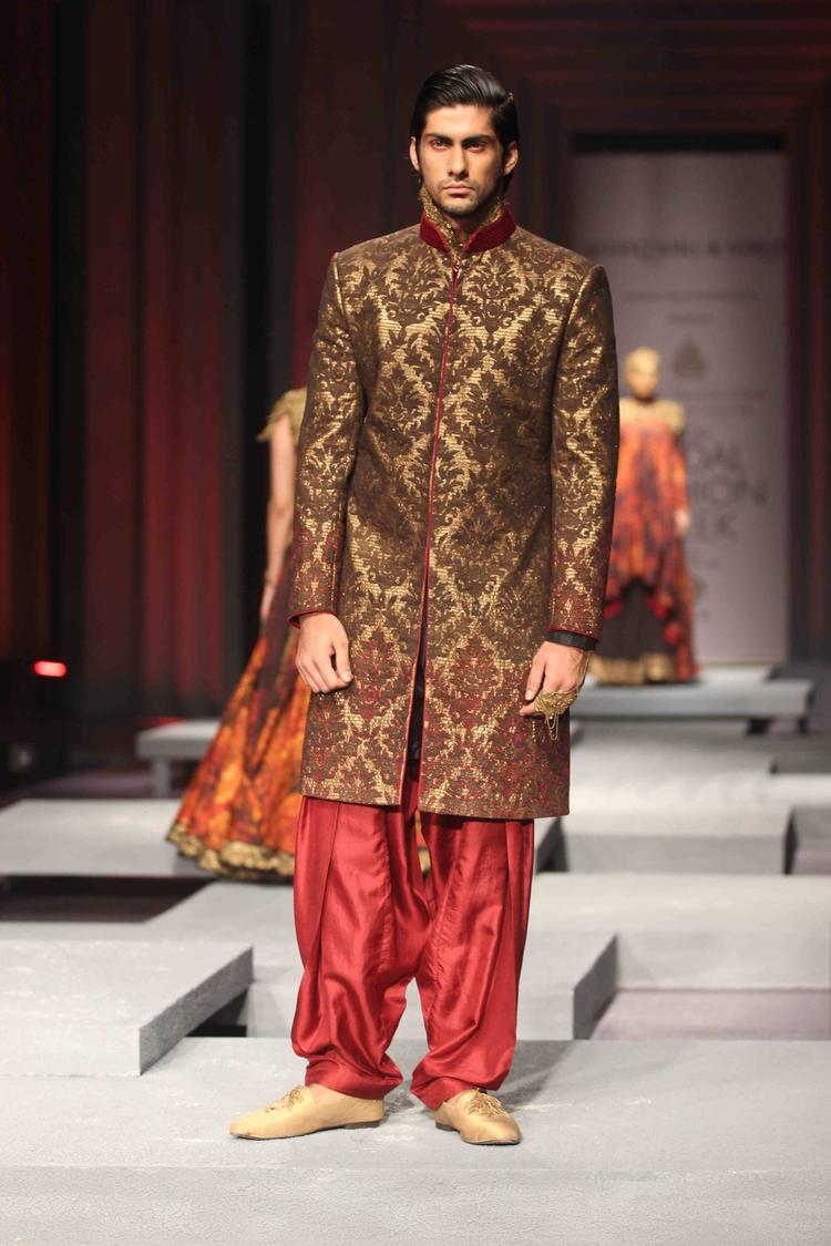 A Model Displays The Creation Of Shantanu And Nikhil On Day 4 IBFW 2013