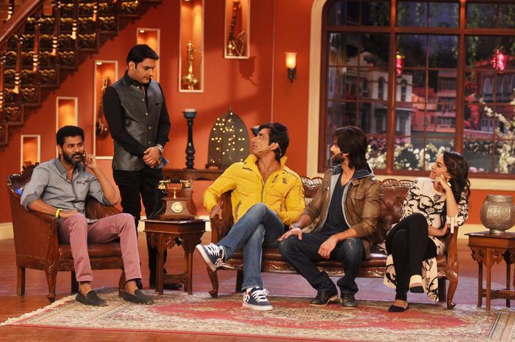 R Rajkumar Movie Team At Comedy Nights with Kapil Show
