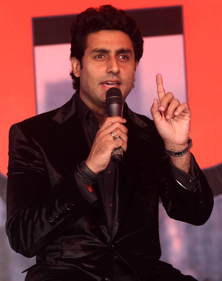 Abhishek Bachchan Speaking Still At Dhoom 3 Press Conference