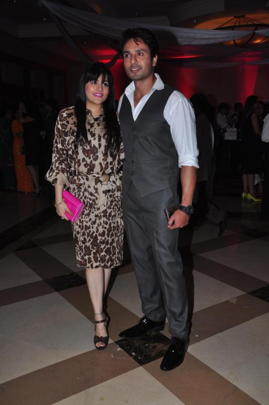 Iqbal Khan With Wife Sneha Chhabra Posed For Camera At Rohit Verma Marigold Watches Fashion Show 2013