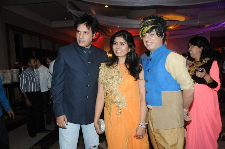 Rahul Roy And Rohit Verma Dazzling Pose At Rohit Verma Marigold Watches Fashion Show 2013