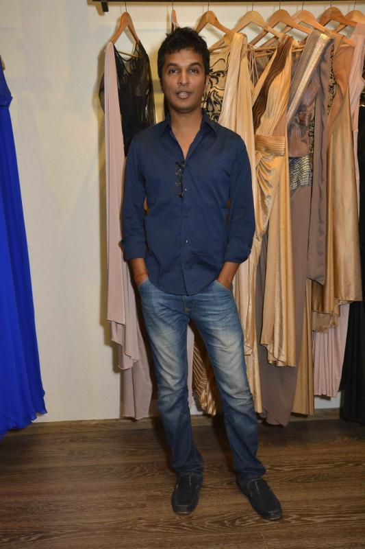 Fashion Designer Vikram Phadnis Strikes A Pose At Amit Agarwal Collection Preview Event