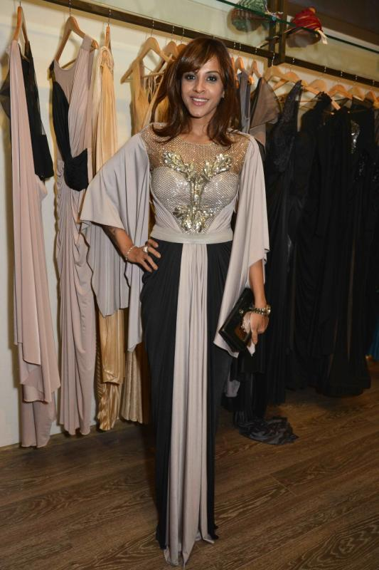 Manasi Scott Fashionable Look At Amit Agarwal Collection Preview Event