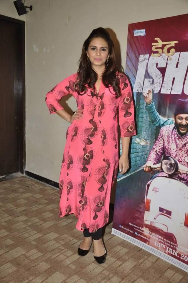 Huma Qureshi Posed For Camera During The Promotion Of Dedh Ishqiya At Mumbai