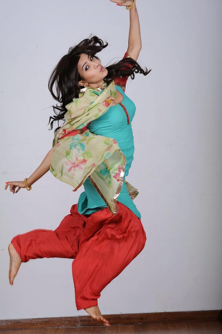 Samantha On Jumping Mode Latest Still