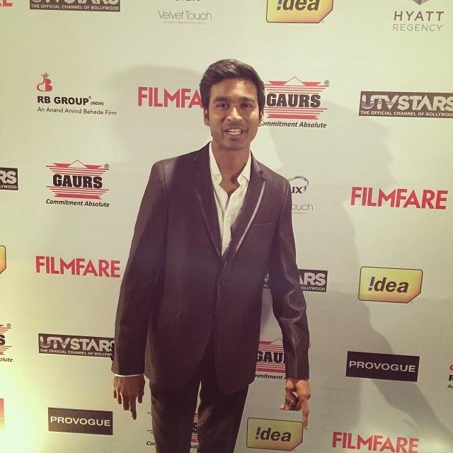 Actor Dhanush During The 59th Idea Filmfare Pre Awards Party In Mumbai