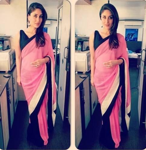 Kareena Kapoor In Shivan And Narresh Spotted At Umang Show 2014