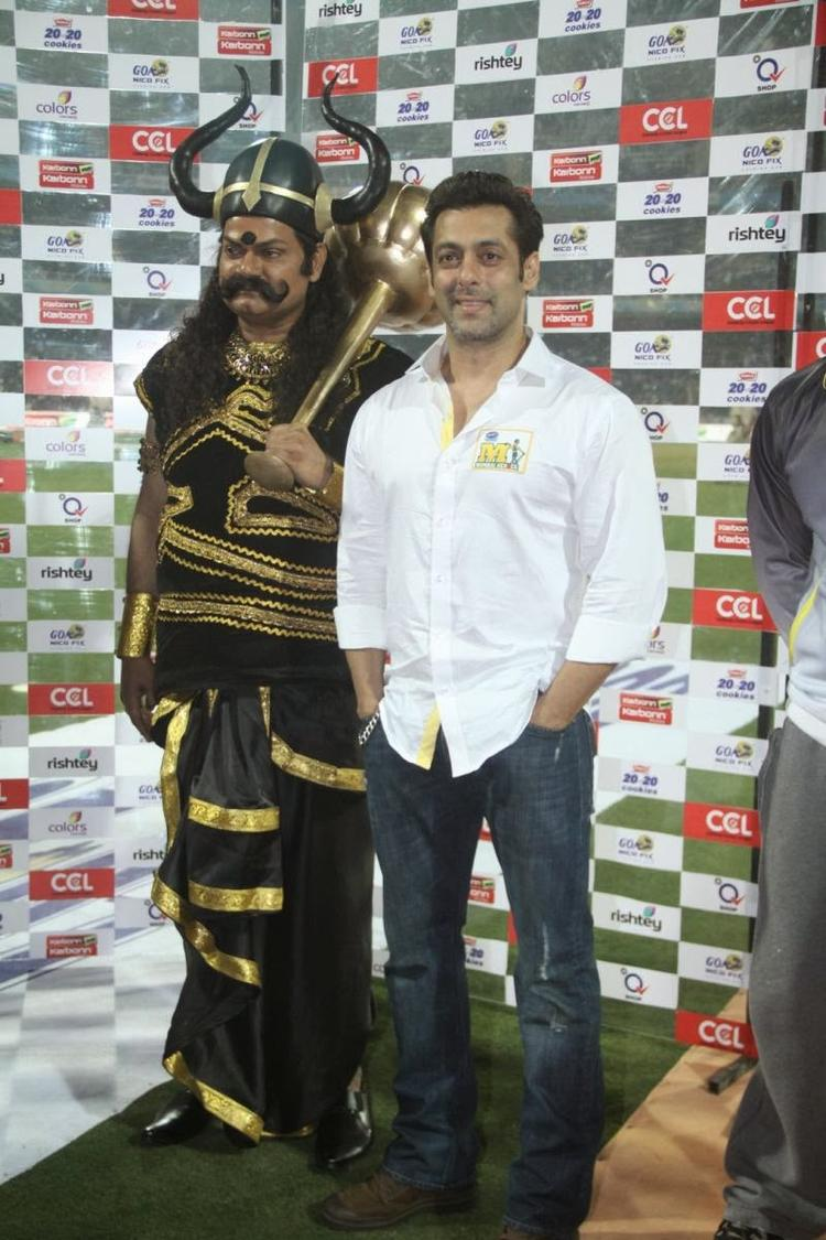 Salman Khan  Looking Very Handsome During The CCL Match Opening Event