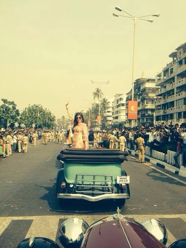 Aarti Chhabria Was Radiant In A Yellow Outfit At Mumbai's Republic Day Parade