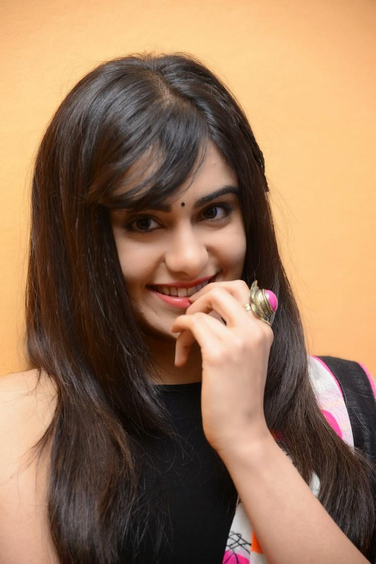 Adah Sharma Cute And Charming Face Look At Heart Attack Audio Success Meet Event