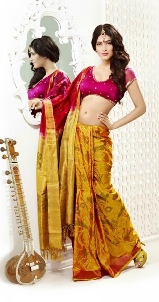 Shruti Haasan Sexy Smashing Look Photo Shoot For Kalanjali Ad