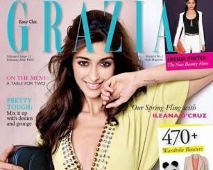 Ileana Smiley Face Stunning Pic For Grazia Magazine India February 2014 Issue