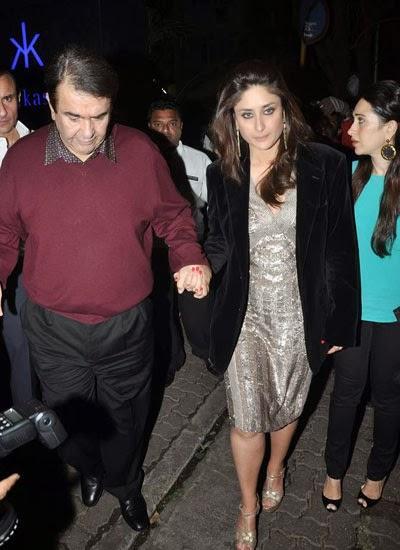 Kareena Holding Dad Hand After Celebrating His Birthday