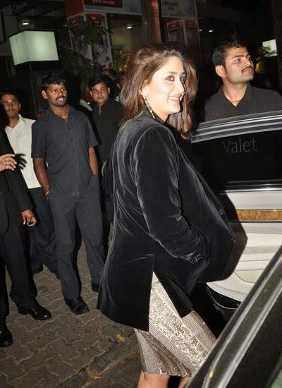 Kareena Kapoor Khan Stunning Face Look At Her Dad Randhir Kapoor's Birthday Bash