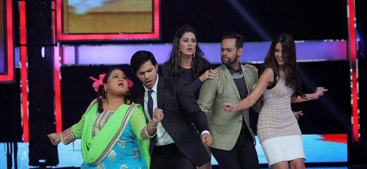 Bharti,Varun,Nargis,VJ Andy And Ileana Cool Danced On The Sets Of India's Got Talent During The Promotion Of Main Tera Hero