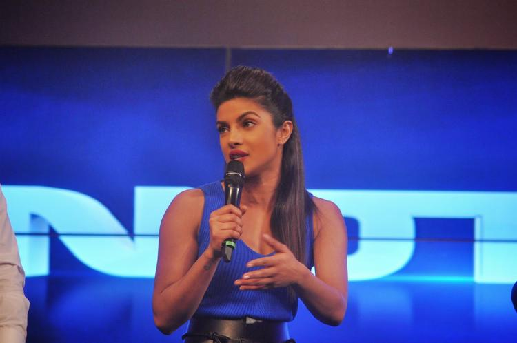 Priyanka Chopra Addresses The Media At NDTV First Dual Channel Launch Event
