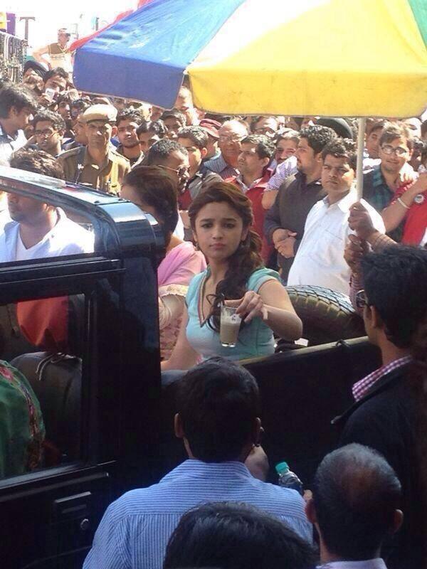 Alia Bhatt Shoots For New Upcoming Movie Humpty Sharma Ki Dulhania