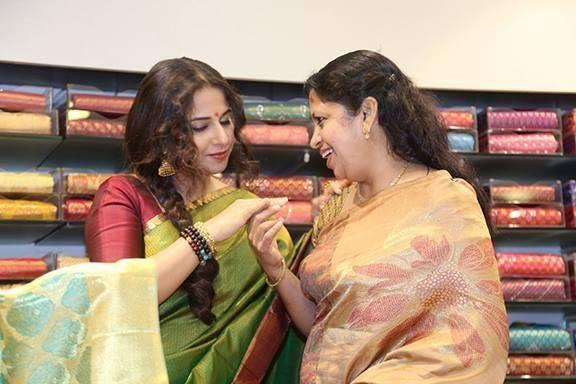 Vidya Balan Unveiled The Silk Saree Showroom The Mall Of Joy In Thrissur