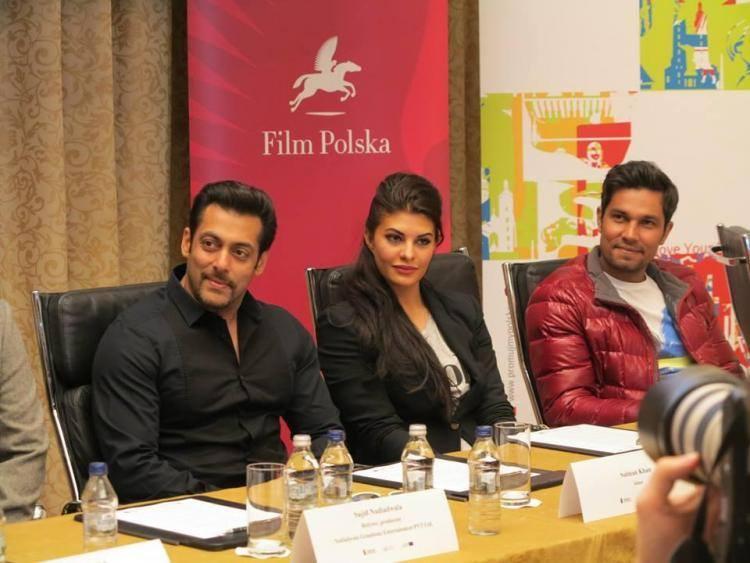 Salman,Jacqueline And Randeep At 'Kick' Press Conference In Poland