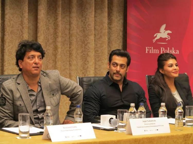 Salman,Jacqueline And Sajid Interact With Media For Upcoming Bollywood Movie Kick