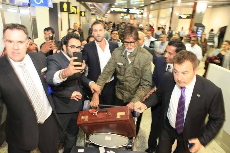 Amitabh Bachchan Arrives For IFFM 2014 At Melbourne