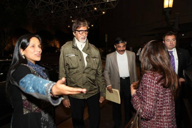 The Estemmed Actor Amitabh Bachchan Has Arrived In Melbourne For IFFM 2014