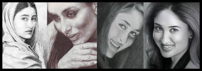Kareena Kapoor - The Exotic Heroine Cool Sketched Painting Photo Still