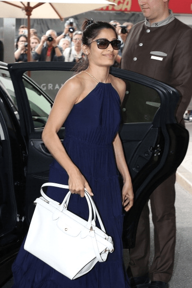 Stunning Freida Spotted Outside Hotel Hotel Martinez At Cannes 67th Film Festival