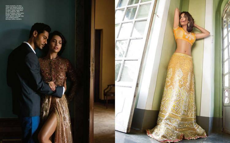 The Photos Show The Actress Esha Gupta In A Sexy Yet Traditional Avatar And She Looks Gorgeous In The Bridal Wears