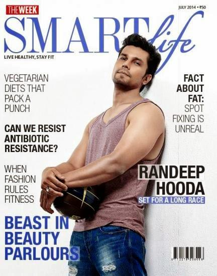 Hot Randeep Hooda Covers On The Smart Life Magazine July 2014 Edition