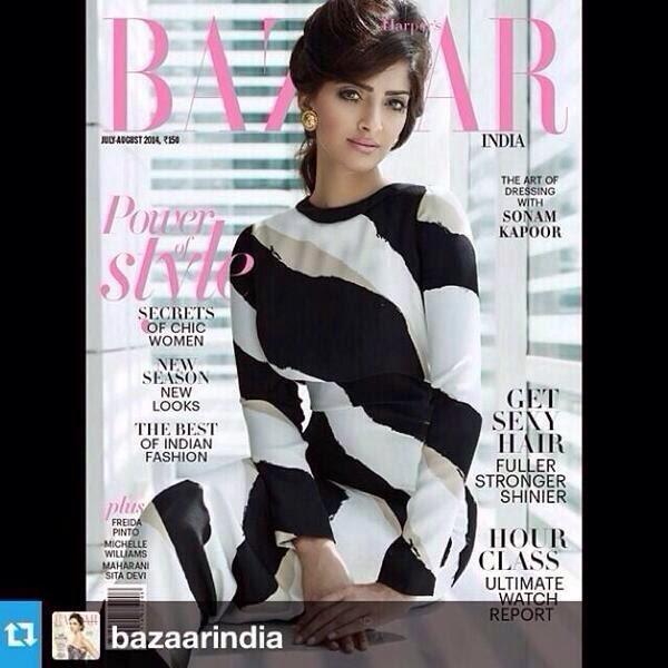 Sonam Kapoor Harper Bazaar India Magazine July 2014 Issue