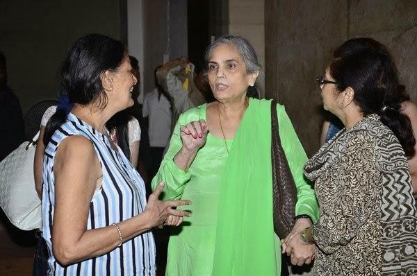 Salma Khan Cool Look In Green Dress At The Screening Of Humpty Sharma Ki Dulhania