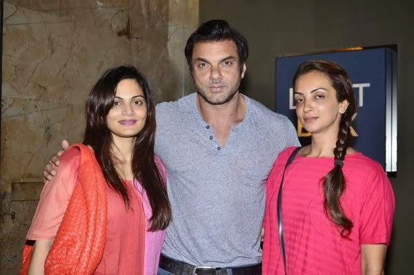Sister Alvira,Sohail With Wife Seema Attend The Humpty Sharma Ki Dulhania Screening Event