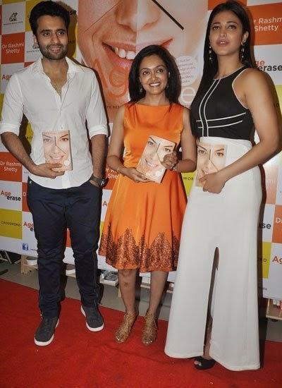 Jackky Bhagnani,Dr Rashmi Shetty And Shruti Haasan Launched Dr Rashmi Shetty Age Erase Book