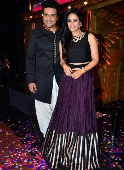 Krushna And Mona Posed On The Sets Of Entertainment Ke Liye Kuch Bhi Karega