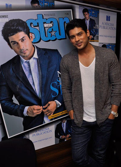 Siddharth Shukla Poses For The Cameras During The Launch Of Star Week Magazine Latest Issue