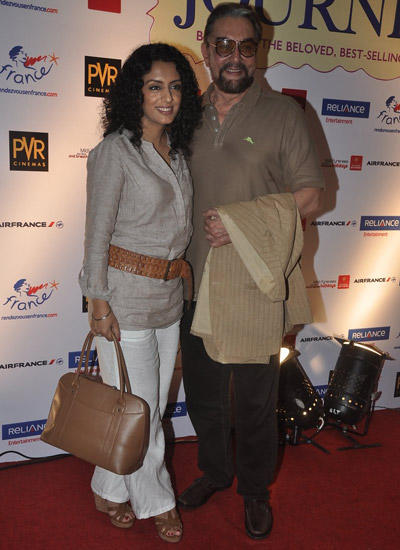 Kabir Bedi And Wife Parveen Dusanj Attend The Premiere Of The Hundred Foot Journey