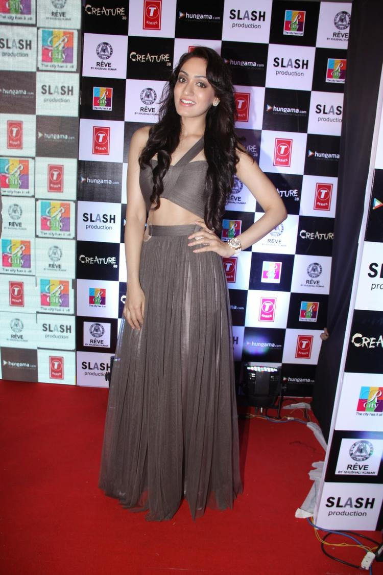 Khushali Kumar Stunning Look On Red Carpet At Audio Release Of Creature 3D