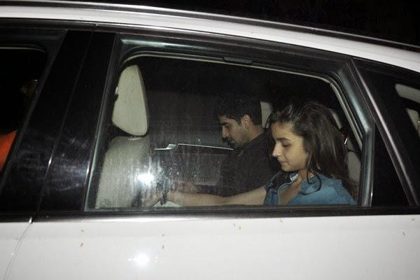 Ayan Mukerji And Alia Bhatt Spotted Outside Of Karan Johar House