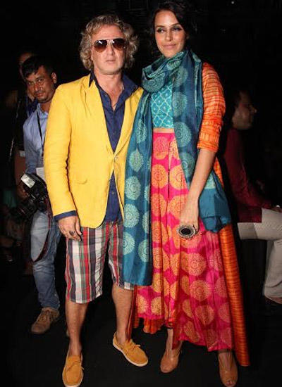 Designer Rohit Bal And Neha Dhupia Posed On Day 2 Of LFW Winter Festive 2014